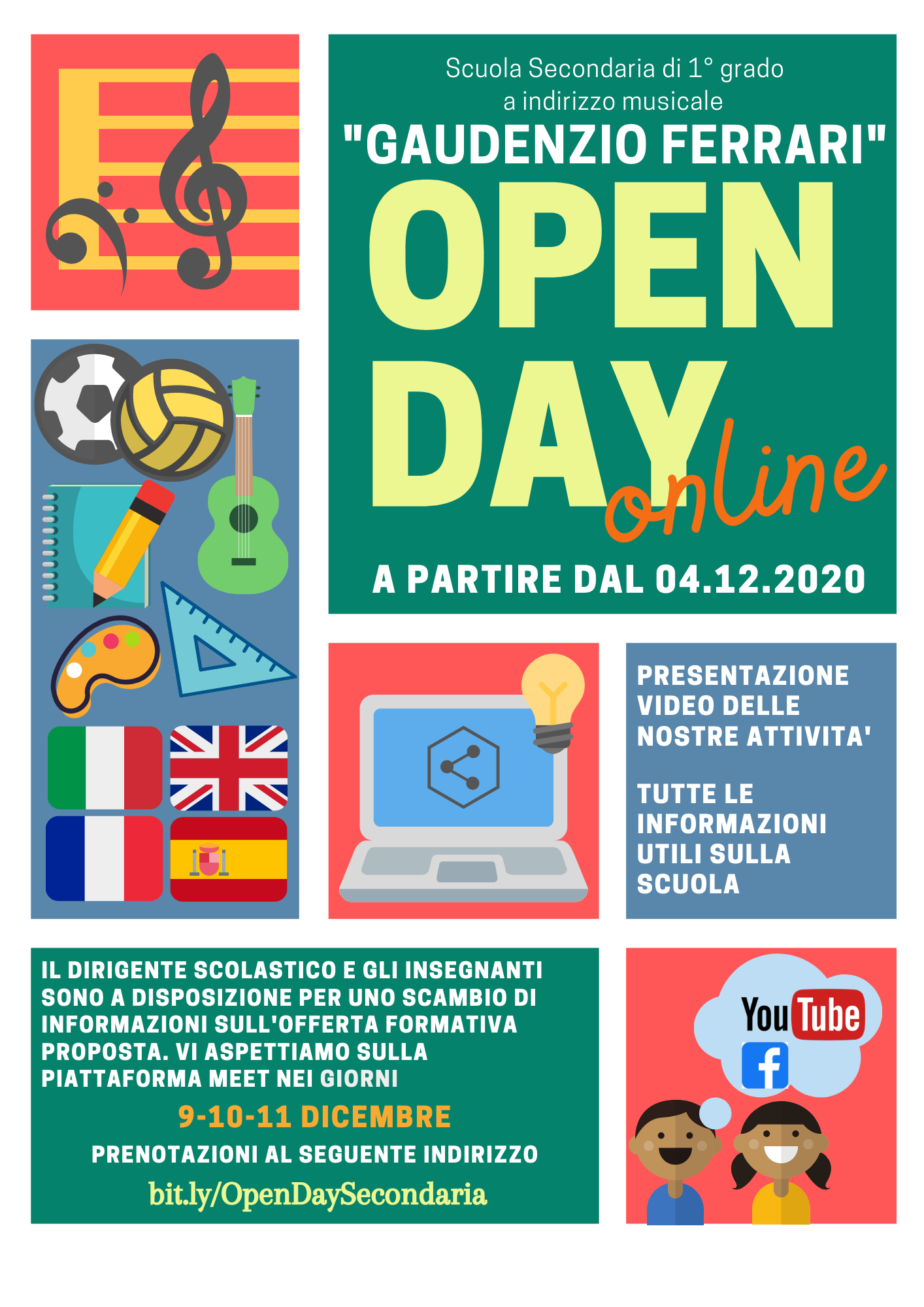 Open Day online 2021 2022